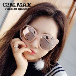 GIMMAX Glasses - Oversized Round Sunglasses