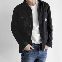 Seoul Homme - Buttoned Cotton Blend Jacket