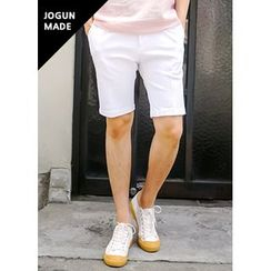 JOGUNSHOP - Flat-Front Colored Shorts