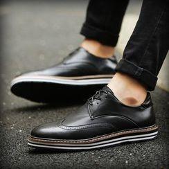 BINSHOU - 翼纹系带牛津鞋