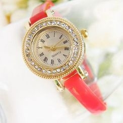 Crocosmia - Rhinestone Strap Watch