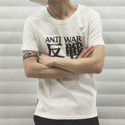 Milioner - Letter Short-Sleeve T-shirt
