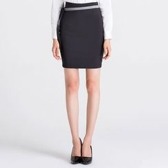 Eleganza - Ribbon Detail Pencil Skirt