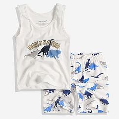 Happy Go Lucky - Kids Set: Printed Tank Top + Shorts