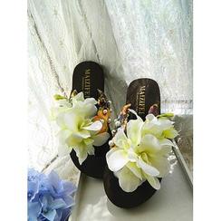 Trava - Floral Flip-Flops