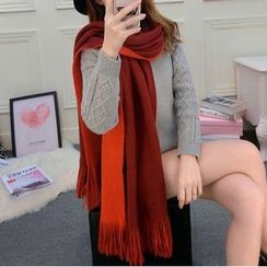 Follow Me - Two Tone Fringed Scarf