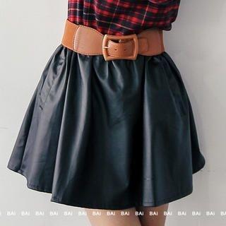 BAIMOMO - Faux-Leather Skirt