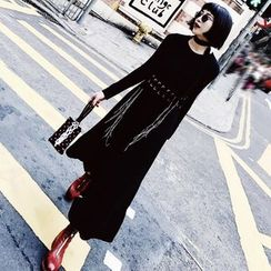 SHERRY - Long Sleeve Maxi Knit Dress