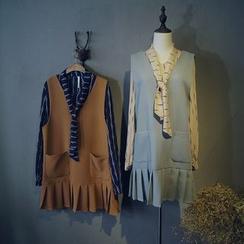 Glovon - Pleat Pinafore Dress