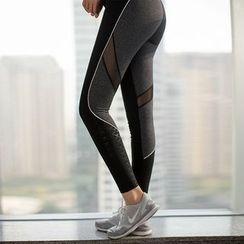 MANANA - Mesh-Panel Yoga Pants