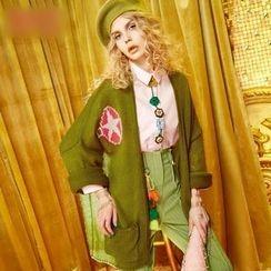 ELF SACK - Patterned Long Knit Cardigan