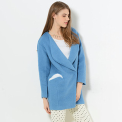 59 Seconds - Collarless Snap-Button Coat