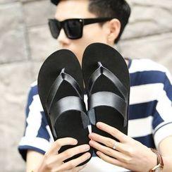 Hipsteria - Genuine Leather Flip Flops