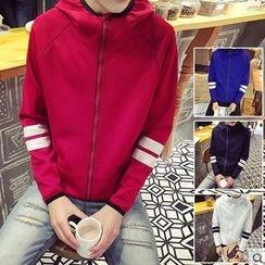 Zeesebon - Stripe Hooded Jacket