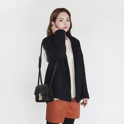 Seoul Fashion - Single-Breasted Wool Blend Jacket