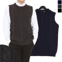Seoul Homme - Cable-Knit Vest