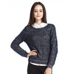 O.SA - Furry-Knit Top