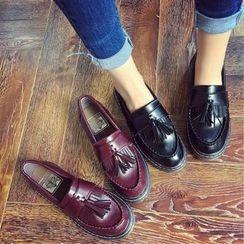 時尚麥樂 - 流蘇邊吊蘇樂福鞋