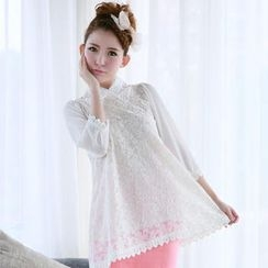 Angel Love - Chiffon-Sleeve Lace Tunic