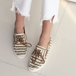 DANI LOVE - Striped Deck Shoes
