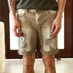 Mannmix - 仿旧短裤