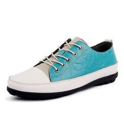 EnllerviiD - Faux-Leather Color-Block Sneakers
