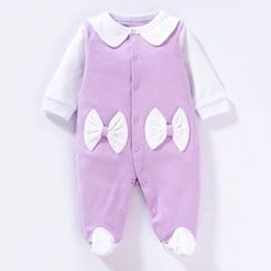 MOM Kiss - Baby Bow Panel One Piece