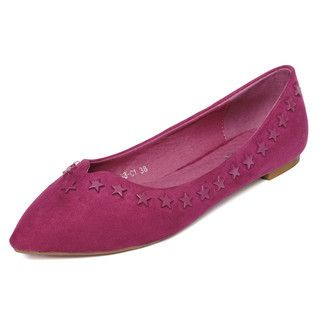 yeswalker - Star Studded Pointy Flats