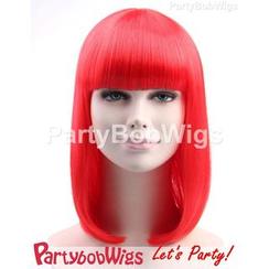 Party Wigs - PartyBobWigs - 派对BOB款中长假发 - 红色