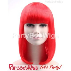 Party Wigs - PartyBobWigs - 派對BOB款中長假髮 - 紅色