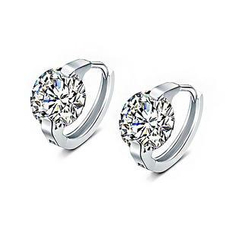 BELEC - 925 Sterling Silver with Cubic Zircon Earrings