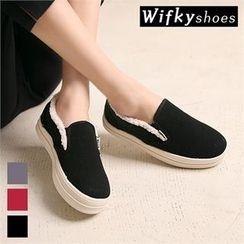 Wifky - Fleece-Lined Platform Slip-Ons