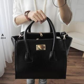 CYNTHIA - Faux-Leather Tote