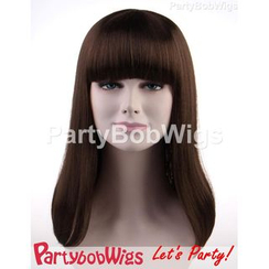 Party Wigs - PartyBobWigs - 派對BOB款長假髮 - 啡色