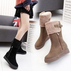 Yoflap - Fleece Lined Hidden Wedge Snow Boots
