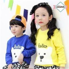 nanakids - Kids Bear Print Pullover