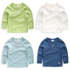 lalalove - Kids Plain Long-Sleeve T-Shirt