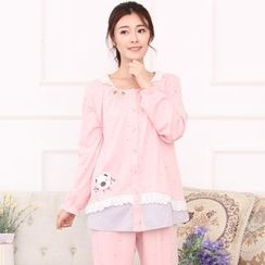 Kream - Pajama Set: Nursery Top + Print Pants