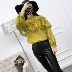 Sienne - Lace Long Sleeve Top