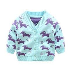 MOM Kiss - Baby Print Cardigan