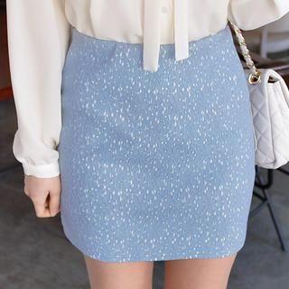 CLICK - Lace Pencil Skirt