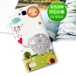Kindtoy - Elephant Print Huawei Honor 3C Case