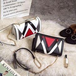 Rosanna Bags - Color Panel Chain Strap Shoulder Bag