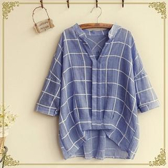 Fairyland - Windowpane Check Blouse