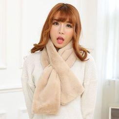Reyna - 純色毛毛圍脖