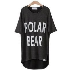PEPER - Scoop-Neck Logo-Print T-Shirt