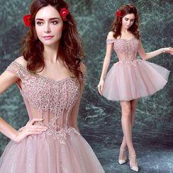 Angel Bridal - Sequined Bridesmaid Dress