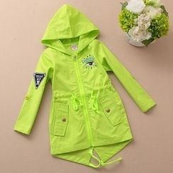 Whizz Kid - Kids Hooded Applique Trench Coat