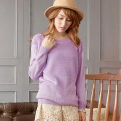Tokyo Fashion - Beaded Raglan Knit Top