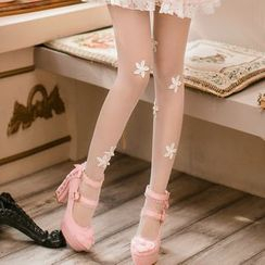 Candy Rain - Floral Tights